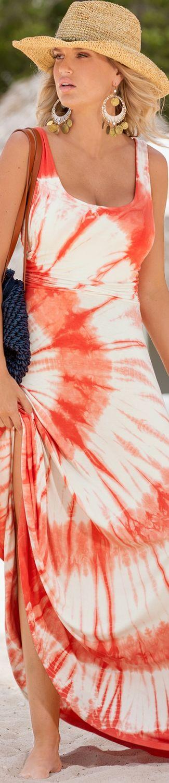 Boston Proper Tie-Dye Tank Maxi Dress