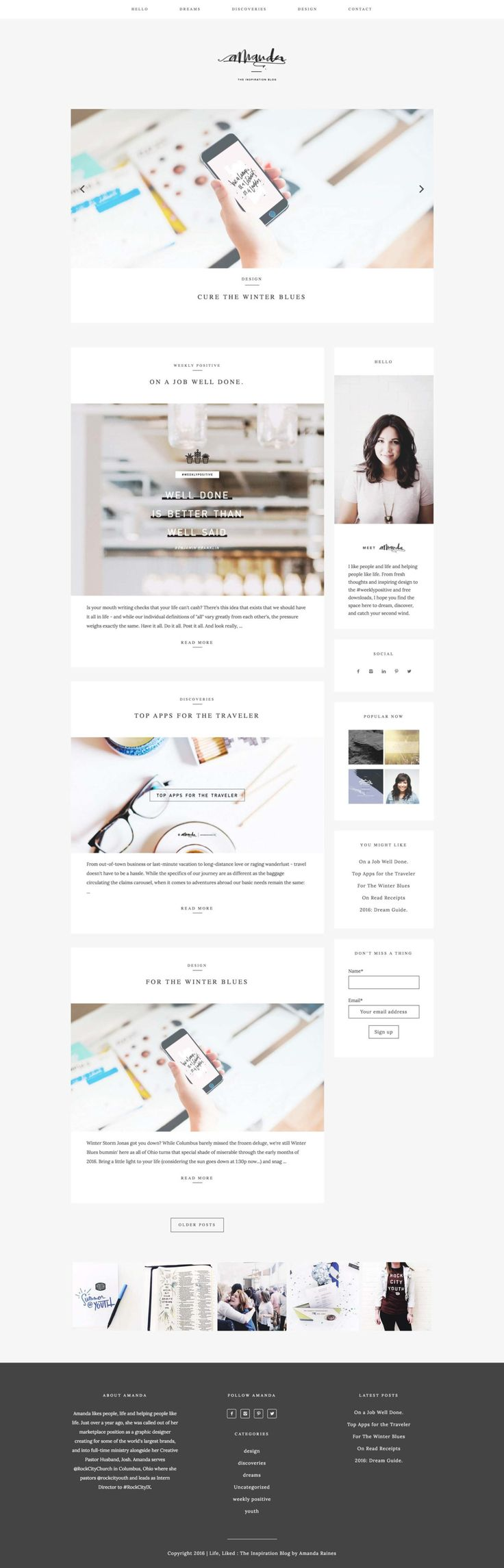 334 best great wordpress themes images on pinterest site amanda raines web design template magicingreecefo Gallery