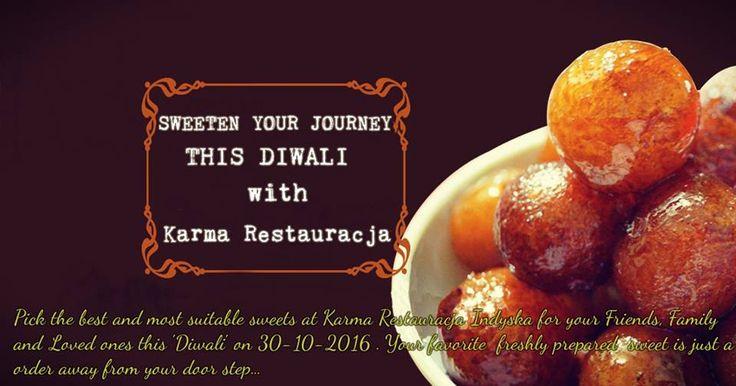 'Muh Toh meetha karao' to klasyczna sentencja, którą usłyszysz na #Diwali. Więc, jak można udać się na największy Festiwal Indii i nie zjeść nic #słodkiego? Od pysznych Gulab Jamun po słodkie i kuszące Jalebi, które trafią w gusta nawet najwybredniejszych smakoszy. Święto Diwali to najlepszy powód aby przerwać dietę i osłodzić sobie życie. Wybierz najlepsze słodkości dla siebie, ukochanej osoby, rodziny i przyjaciół w Restauracji Karma w dniu Diwali. Twoje ulubione, świeżo przygotowane…