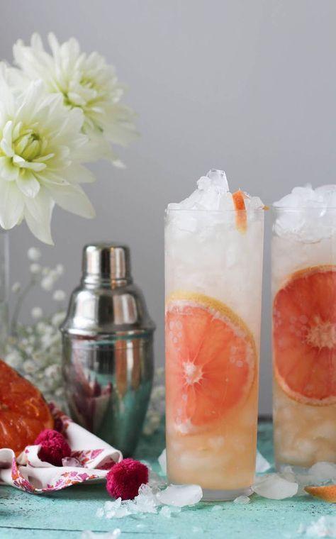 Caramelized Grapefruit Gin & Tonic #gindrinks