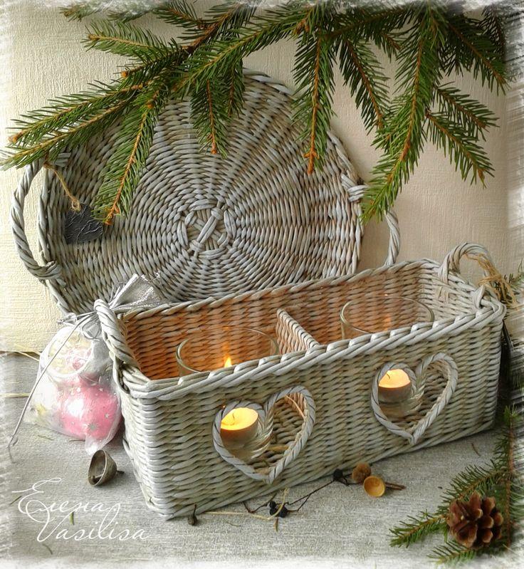 Hearts basket & tray