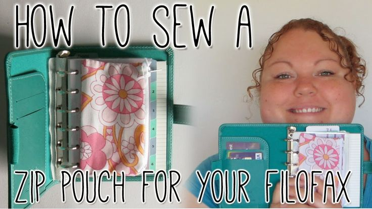 How to sew a zip pouch / purse / pencil case to use on the rings of your planner - Filofax Friday