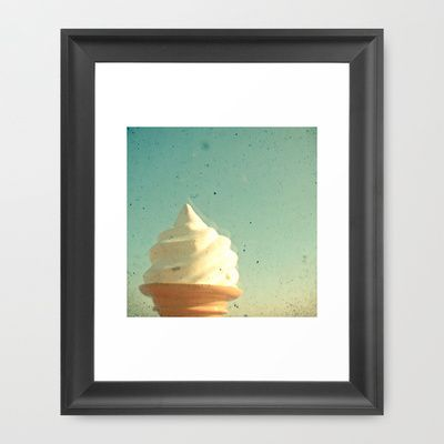 Ice Cream Framed Art Print by Cassia Beck - $38.00