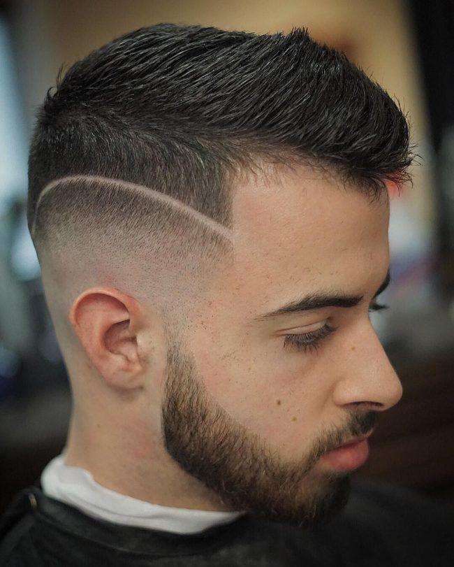 Fade Haircut With A Line Widows Peak Hairstyles Widow S Peak Faded Hair