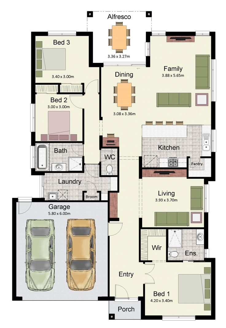 House design 40 x 80 - The Somerset 215 Features Plenty Of Living Space And Zoned Bedrooms