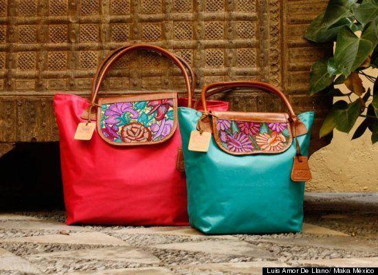 Bolsos artesanales que honran la tradición textil de México (FOTOS)