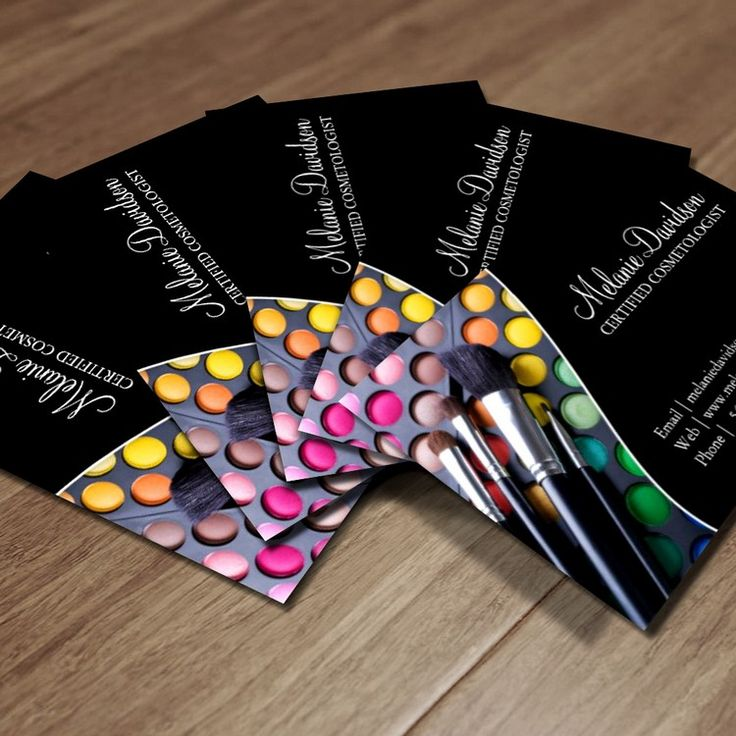 makeup artist business cards - photo #36