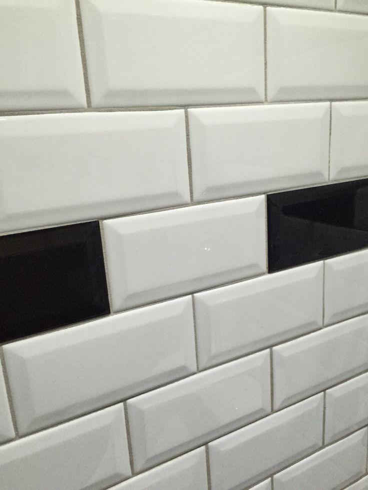 Metro tegels zwart wit
