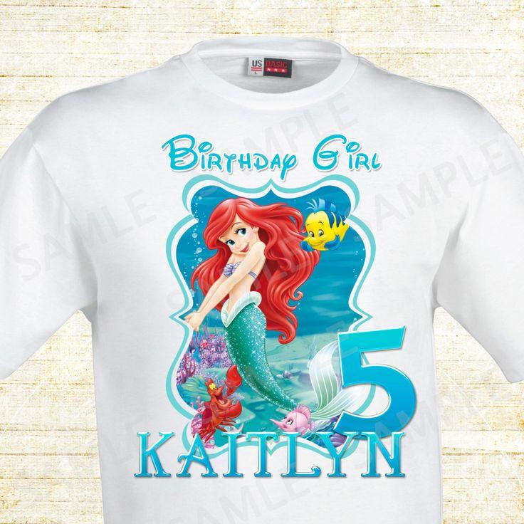 Ariel TShirt Decoração aniversário, Aniversario