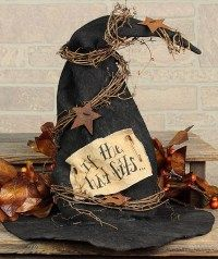 Witch Hat $17.95  Primitive Halloween Decoration
