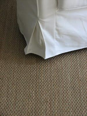 Love white cotton loose covers against sisal