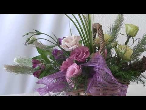 Flower Arrangement,フラワーアレンジメント,arranjo de flores,插 - YouTube