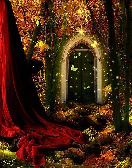 211 best magic doors images on pinterest beautiful for The magic elf door