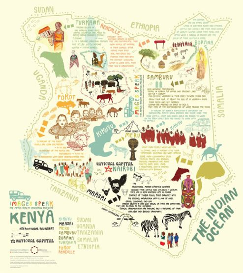 Kenya Map - Art and design inspiration from around the world - CreativeRoots