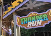 Take a ride through Wonder Mountain on Thunder Run!   Height Requirement: 40 inches