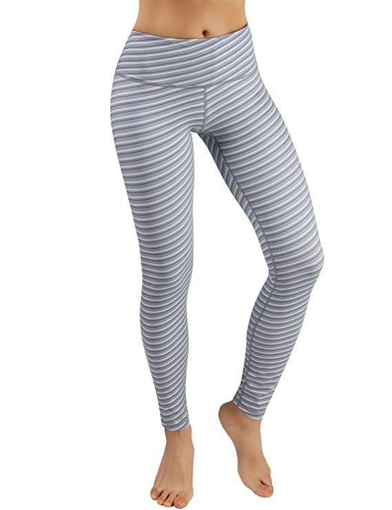 6660b697ce2ad Amazon.com: ODODOS High Waist Out Pocket Printed Yoga Capris Pants Tummy  Control Workout