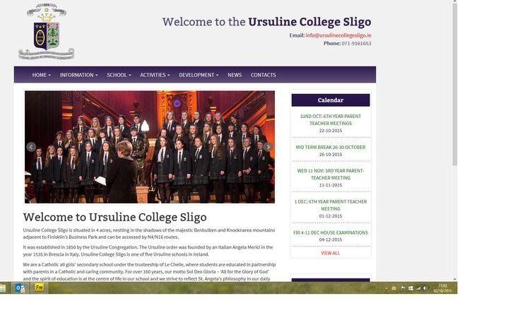 Website for www.ursulinecollegesligo.ie designed and built by Format.ie Web Design Sligo