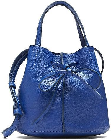 Italian Leather Bow Bucket Bag from Banana Republic Stow all your essentials in this drawstring bucket-style bag. #BananaRepublic #GiftsForHer #affiliate