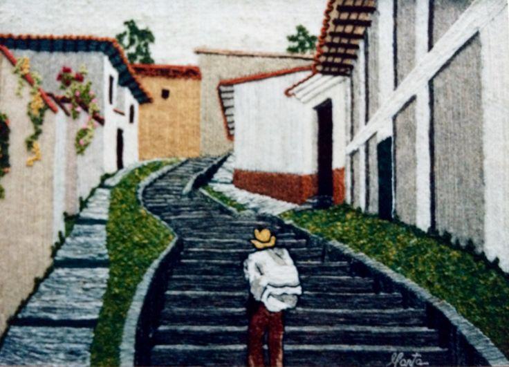 Calle de Isa  Marta Alarcón  Collage en Lana