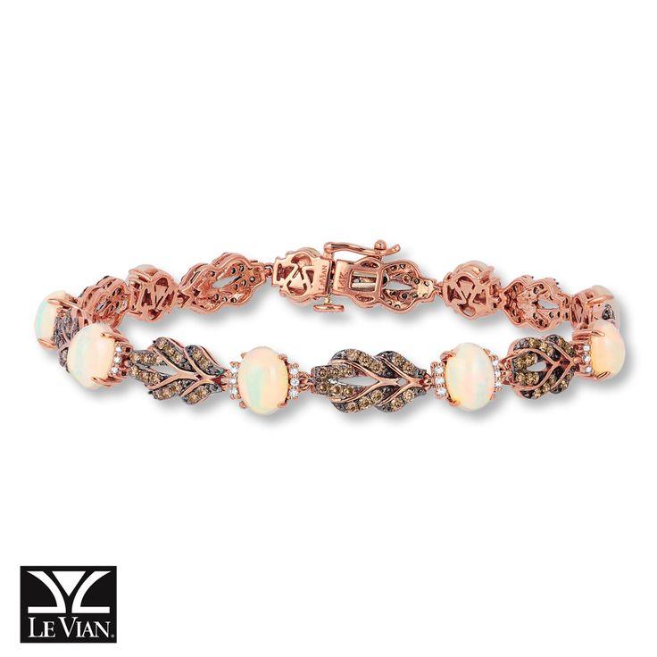 Le Vian Chocolatier 174 Neopolitan Opal Bracelet 1 3 8 Ct