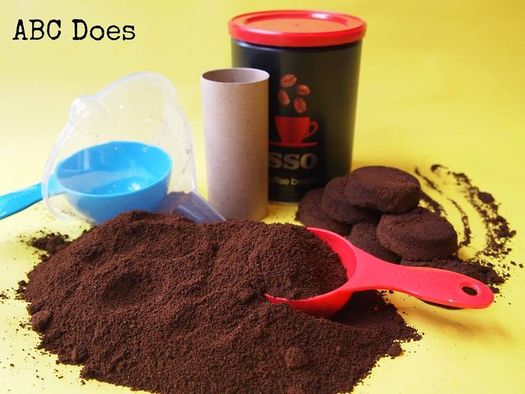 using coffee grinds to make bricks etc #abcdoes #eyfs