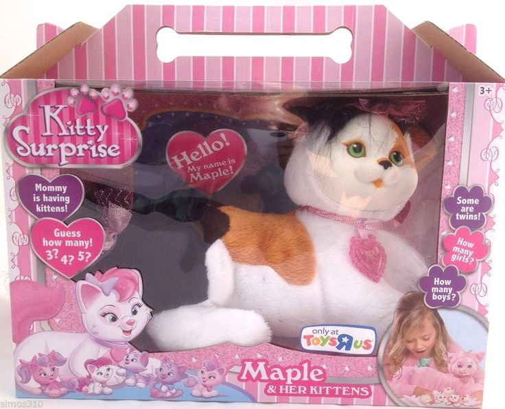 Just Play 2014 Kitty Surprise Calico Maple Mommy Cat And