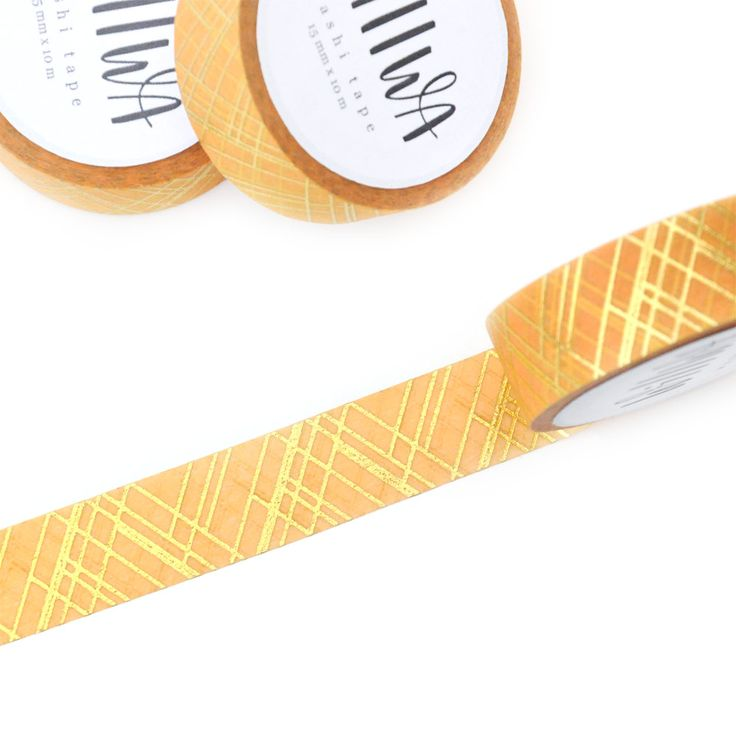 Sophisticated Lines Gold Foil Washi Tape | Design by Willwa