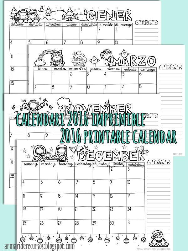 Blank Calendar Elementary : Best agenda fai da te images on pinterest organizers