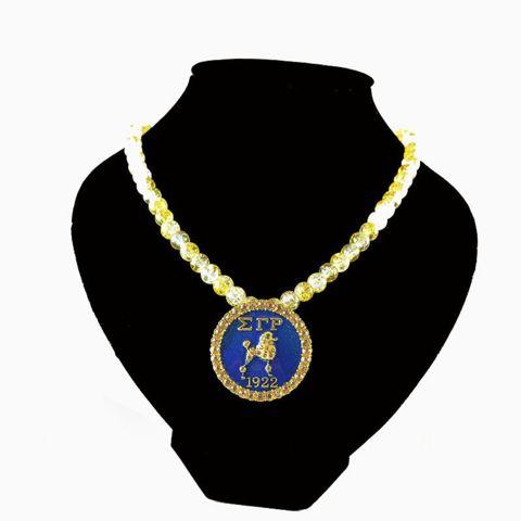 Sigma Gamma Rho Sorority  Crystal necklace Jewelry