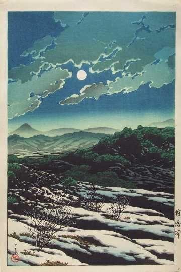 川瀬巴水 Hasui Kawase『狩勝峠』(1931)
