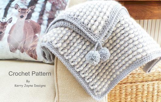 Channel Stitch Blanket Crochet pattern UK | Crochet | Baby blanket