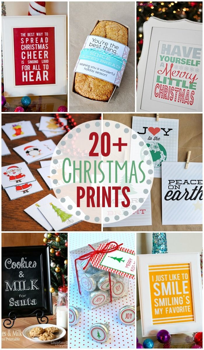 20+ Christmas Prints - FREE holiday tags, signs, and games! { lilluna.com }
