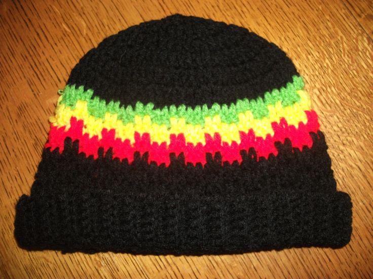 Rasta Hat - FREE Moogly pattern (Leaping stripes and blocks beanie)