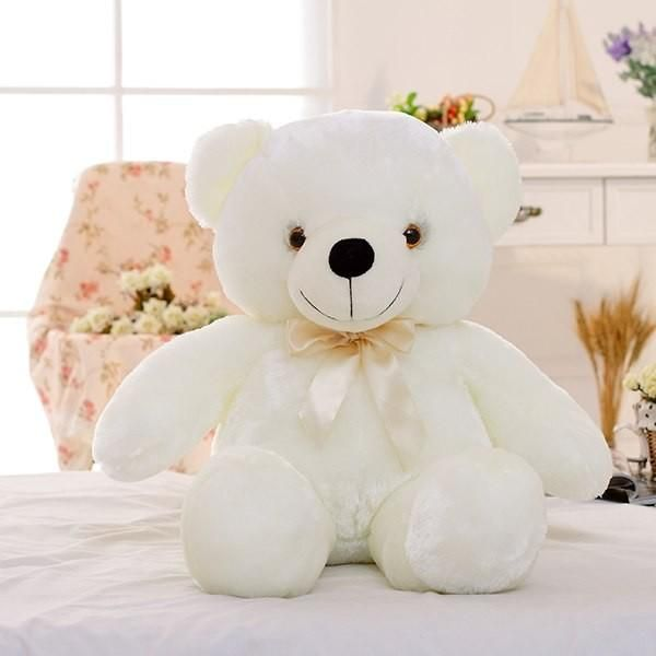 Stuffed Animal Kids Soft Toy Cuddly Christmas Gift Plush White Teddy Bear