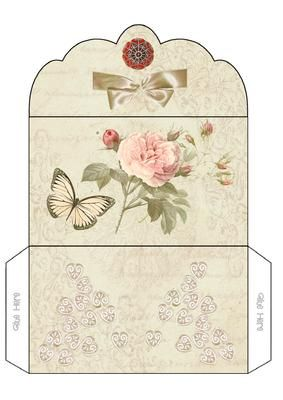 Floral Wallet on Craftsuprint designed by Carol Brown - sheet created for any occasion,take time out to look at all my new designs - Now available for download!