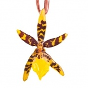Yellow-Cattleya Necklace $45