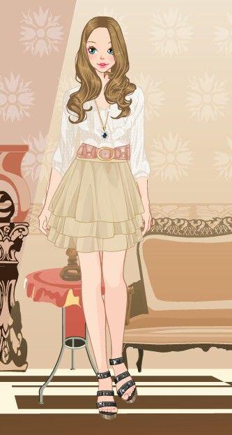 Online dress-up games - Layered skirt