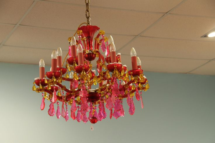 Where would you put a pink Chandelier??