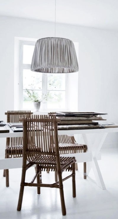= bamboo chairs and white