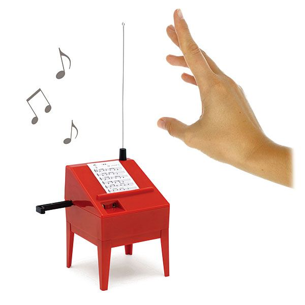 ThinkGeek :: Theremin Mini Kit; $40; maybe for the dad who has everything?