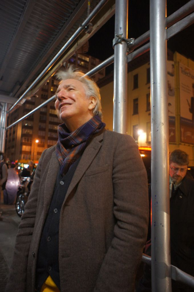 "Alan Rickman after a performance of ""Seminar."" He played Leonard in ""Seminar"" from November 20, 2011 to May 31, 2012."