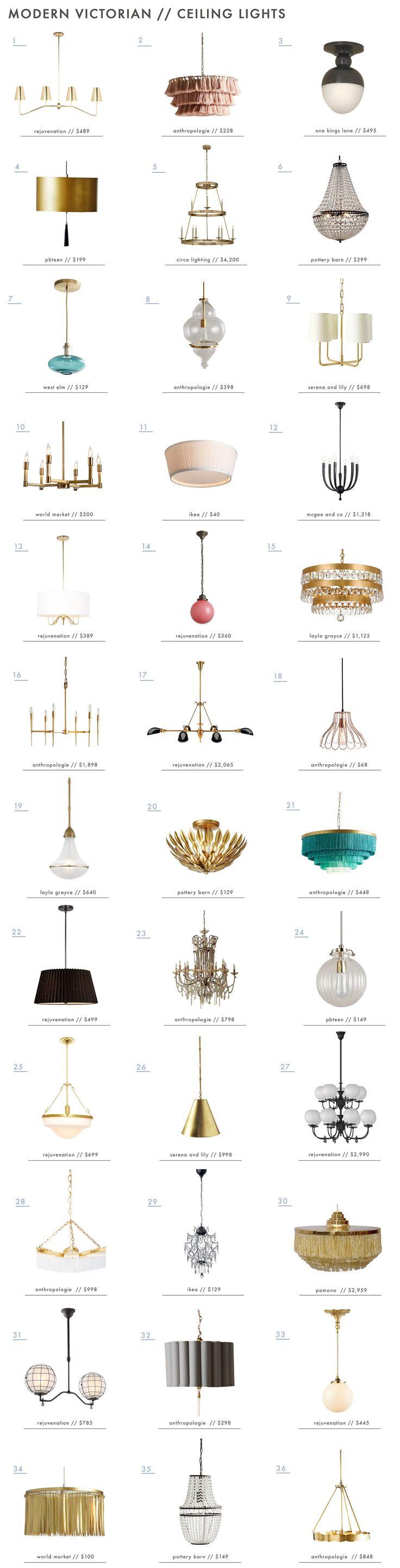 Emily Henderson Modern Victorian Trend Lighting Ceiling Roundup