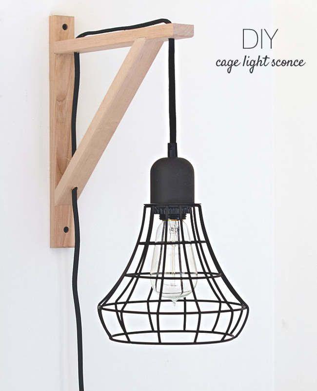 IKEA HACKING LAMP Utiliser un support pour tablette en vente chez IKEA pour fabriquer cette jolie lampe murale!
