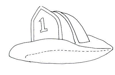 Kindergarten Printable hat templates | Fireman hat template / Fireman hat craft
