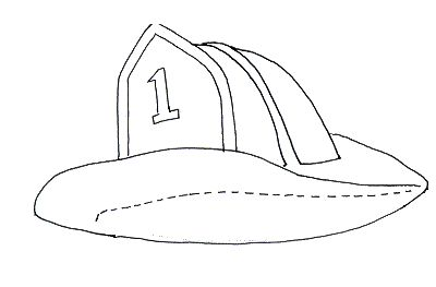 coloring pages of fire hats - photo#11
