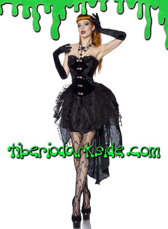Tiberio Dark Side. - Vestido Gotico Corse Terciopelo