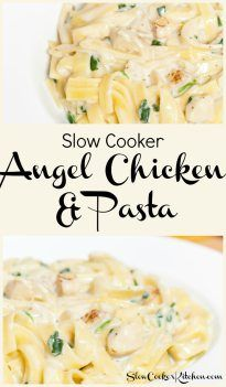 Ever Had Angel Chicken & Pasta? It's a lot like fettucine alfredo but lots easier and this slow cooker angel chicken & pasta is even easier than making it in the skillet.
