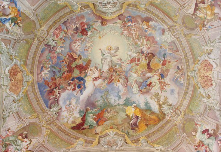 48. Josef Winterhalder ml.: Proměnění na hoře Tábor, freska Benediktinský klášter Rajhrad