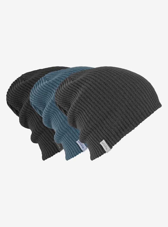a43bb9cb711 Burton DND Beanie 3-Pack shown in True Black   Faded   LA Sky ...