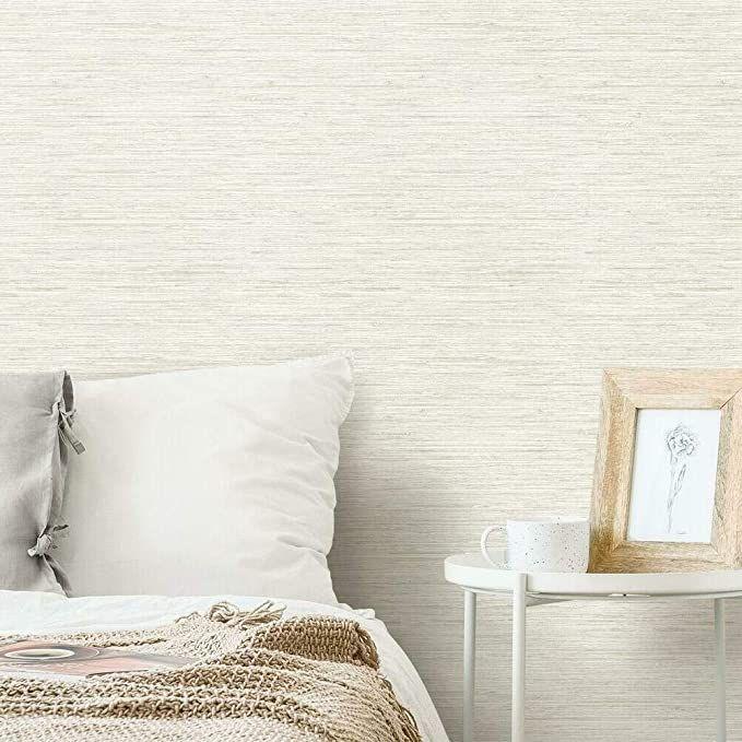 Roommates Grasscloth Peel And Stick Wallpaper Grey 20 5 X 16 5 Feet Rmk11078wp Amazonsmile Grasscloth Peel And Stick Wallpaper Removable Wallpaper